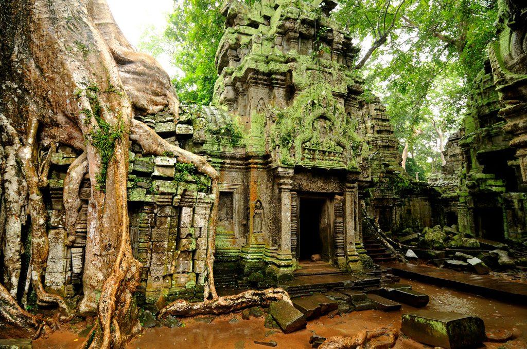 Tempelruine, Angkor Wat in Kambodscha