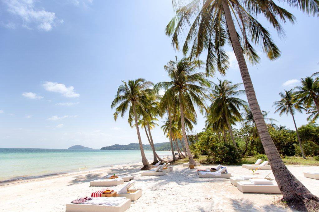Palmen und Strand, Phu Quoc in Vietnam