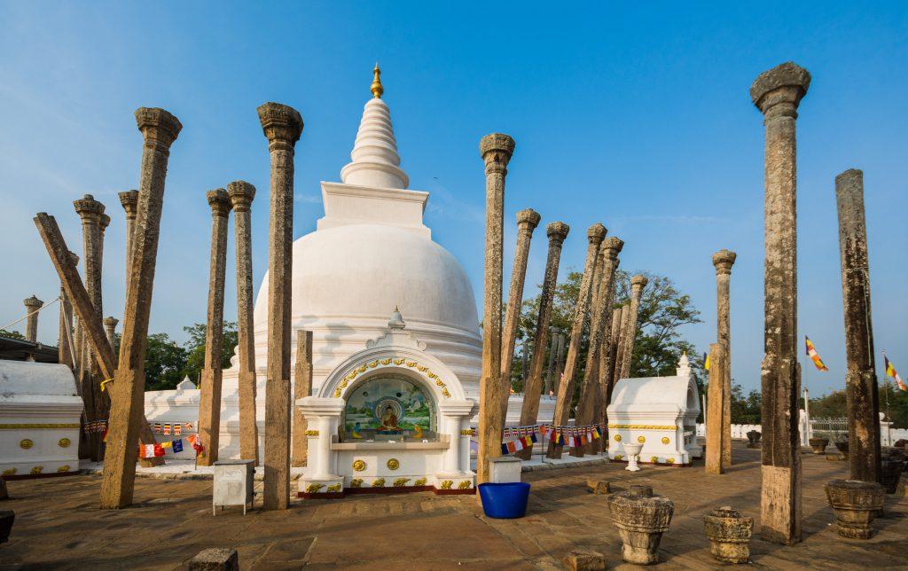 Dagoba in der Königsstadt Anuradhapura, Sri Lanka