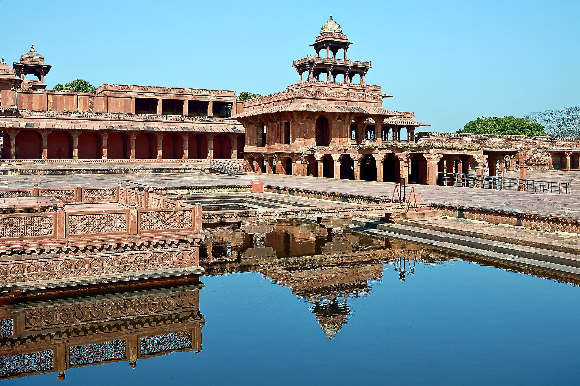 Fatehpur Sikri, Tempel, Ruinen, Wasser, Indien