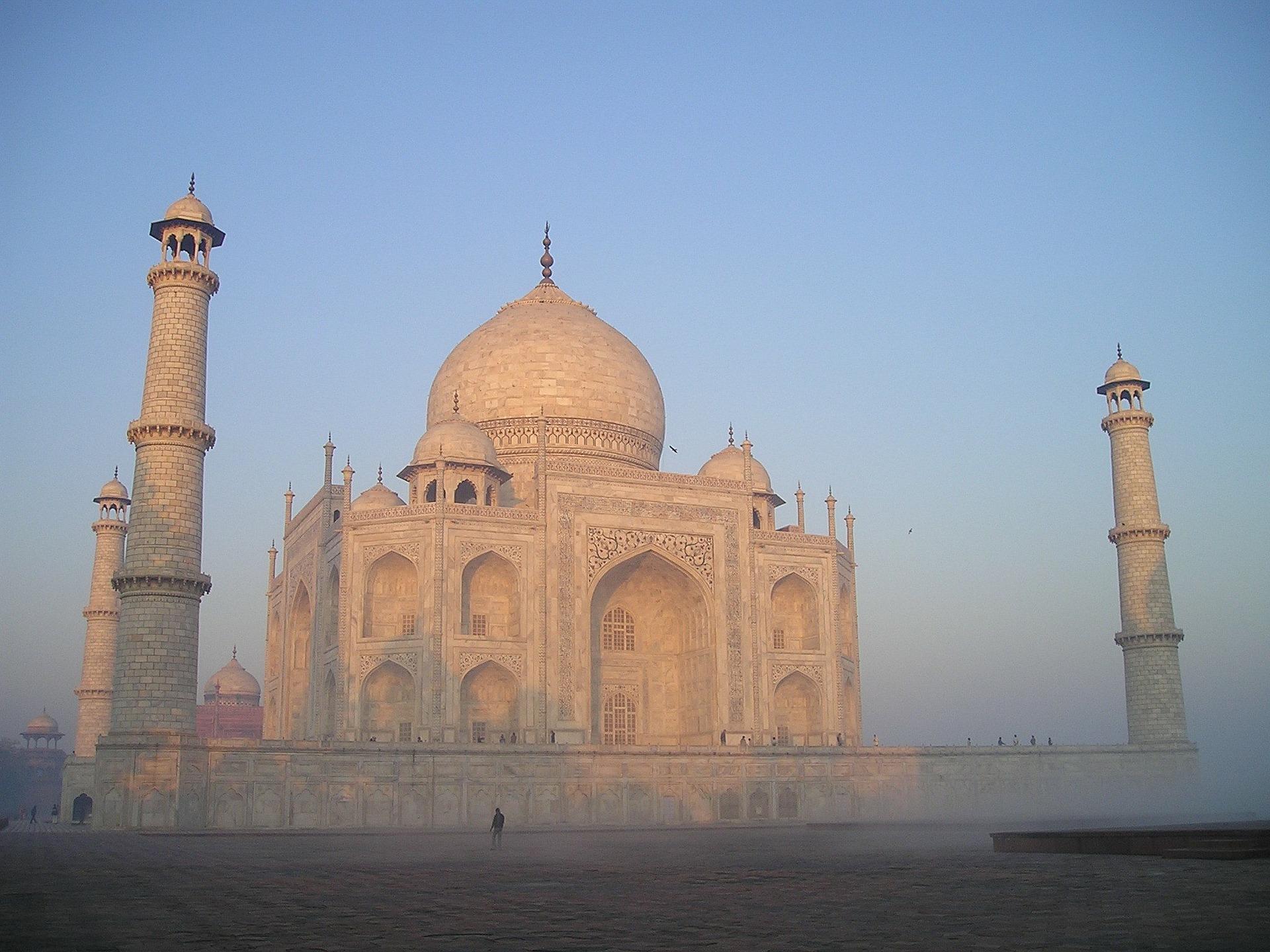 Taj Mahal, Agra, Indien, Sonnenaufgang